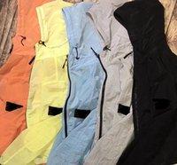 Мужчины воздушные куртки с капюшоном ветровка на молнии толстовки на молнии пэчворки куртки камень бегущий спортивный толстовки Jogger повседневная островное пальто E2A016