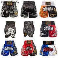Men's Pants Printing Mma Kids Boy Kickboxing Fight Grappling Short Muay Thai Boxing Shorts Clothing Sanda Boxe