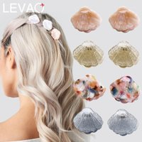 Levao 2PCS Mini Shell Hair Pins For Girls Accessories Colorful Acrylic Shells Clips Headwear Ponytail Hairpins1