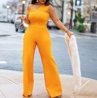 2021 여성 독특한 오렌지 공식 드레스 유행 단단한 스파게티 스트랩 새틴 이브닝 드레스 바디 콘트 슈트 갈라 가운 민소매