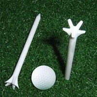 50pcs 70mm Soild 컬러 골프 공 나무 티 야외 스포츠 플라스틱 전문 마찰없는 밀 티셔츠 훈련 원조