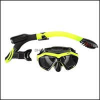 Mergulho Snorkeling Esportes de Água Ao Ar Livro Máscaras Profissional Máscara Máscara Definido Anti nevoeiro Óculos de Nevoeiro Com Snorkel Óculos Tube Fl fl