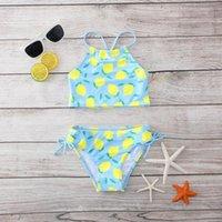 One-Pieces 2021 Girls Swimwear Summer Bikini Sets Sling Sleeveless Two Piece Swimsuit Children's 8-14Y Kids Beach Bathing Suit