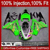 OEM-Spritzgussform für Triumph Daytona 675 R 675R 2002 2003 2004 2005 06 07 08 Body Green Light 106HC.120 Daytona 675 daytona675 02 03 04 05 2006 2007 2008 Volle Verkleidung