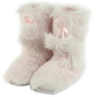 Gohom Women's Soft Fur Luxury Booties Slippers Winter Warm Indoor House Slipper Ankle Boots Shoes Drop