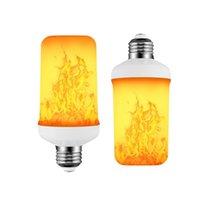 Ampoules de Noël LED FLAME DYNAMIQUE EFFECTURE DE FLAME FIRE DE FEU E27 B22 E14 EMOINE CREATEUR CREATIVE EMULATION 7W 12W Lampe