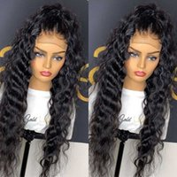 Lace Wigs 28 30 Inch Brazilian Curly 13x4 Front Human Hair Pre Plucked Glueless Frontal Wig For Black Women Deep Wave Remy