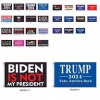 DHL Ship! 30 estilos 2024 Trump Flag Biden no es mi presidente 90 * 150cm Indicador de las elecciones presidenciales de los Estados Unidos Trump Banders Banners