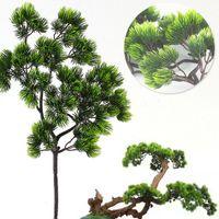 Decorative Flowers & Wreaths 1pcs Artificial Plant Pine Fake Plants Home Wedding Decoration Plastics Non-Toxic Beauty