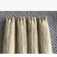 "Lummy Remy PU PU PU Extension Extension Extension волос 14 ""-26"" 40 шт. 100 г Установите цвет # 60 Платина блондинки в наращиваниях волос"