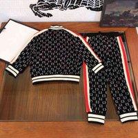 2021ss fashiong зимняя набор одежда детский костюм спортивные десингер ребята мальчики толстовки брюки 2 шт. Костюмы с длинным рукавом хлопок детская бутик одежды xl6u