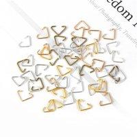 100 قطعة / المجموعة مثلث حلقات قفزة خواتم 6x10 ملليمتر سبليت خواتم مجوهرات موصل النتائج الملحقات لصنع المجوهرات 1941 Q2