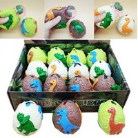 Ootdty Surprise Dinosaur Eggs Anti Strs Grape Ball Squeeze Relief Vent Toy Kids