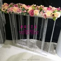 Party Decoration Style Clear Wedding Centerpieces Acrylic Flower Holder For Table,party Centerpiece Christmas Deco Rack