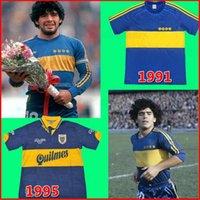Maradona Boca Boca Juniors Retro manica lunga 1981 03-04 Jersey di calcio Roman Caniggia Palermo Maniche corte Retro Camicia da calcio Bambini Top Quality