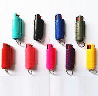 9 ألوان الأزياء 20ML رذاذ المفاتيح منتجات الدفاع عن النفس الذئب الدفاعات الذاتي سلسلة مفتاح في الهواء الطلق الإناث الدفاع عن النفس