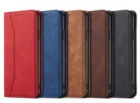 Ретро кожаные чехлы для iPhone 11 Pro Max 12 Mini 6 7 8 плюс Samsung S20 S21 Flip Magnet Case Compate Phone Cover