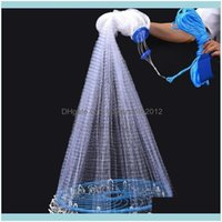 Aessories Sports & Outdoorshand American Style Finefish Net Hand Tool Throw Outdoor Usa Cast Gill Catch Network Fishing G0X6 Drop Delivery 2