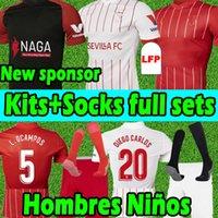 20 21 Sevilla FC camisetas de fútbol  Soccer Jersey #10 i.rakitic #9 de jong 2020 2021 J.KOUNDE L.OCAMPOS  J.NAVAS MUNIR papu gómez chándal de fútbol  Hombres + Niños Kits