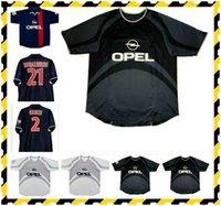 Rétro 2001 2002 Jerseys de fútbol Paris Okocha Arteta Heinze Anelka Pochettino Aloisio Llacer Ronaldinho 01/02 Home Retro Football Shirt