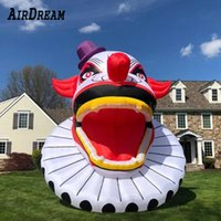 Free ship to door Creepy big giant inflatable clown head 10/16/20 ft high inflatables halloween ghost with LED light