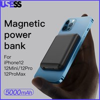 Magnetic Wireless Power Bank Portable Magsafe Chargers per iPhone 12 Pro Max 12mini 5000mAh Magnete batteria esterno powerbank