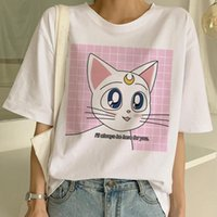 Gato mujeres van gogh camiseta kawaii divertido historieta estética tshirt ulzzang tumblr ropa grunge femenino top tees femme harajuku