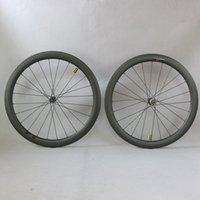 탄소 도로 자전거 바퀴 디스크 브레이크 Novate D411 / D412 허브 허브 와이드 25mm 27mm 탄소 림