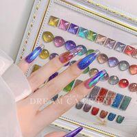 Nail Gel 1 Bottle 15 ML Cat Eye Polish Soak Off Luminous Crystal Magic Magnetic UV Glitter C5D2