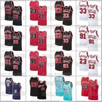 Chicagos 23 Michael Jerseys Scottie 33 Pippen Dennis 91 Rodman Jersey Retro Bebl Basketball Jersey