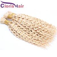 """Толстый конец индийской глубокой волны насыпь человеческих волос наращивание волос дешевые блондинки вьющиеся навсегда наматывание человеческих волос без привязанности 10-28 """""""
