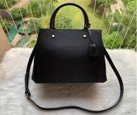 حقائب اليد نمط الأزياء الغربية المحافظ حقيبة montigne المرأة حمل إلكتروني النقش حقائب الكتف جلدية crossbody سلة التسوق Tong-7