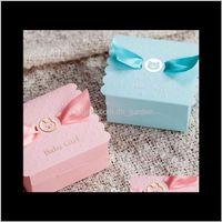 Wrap 100Pcs Custom Name 90X90X45Mm Cute Baby Candy Chocolate Box Christmas Birthday Gift Packaging Xd22516 3Zqiz Fpijt