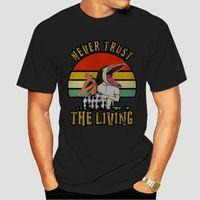 Women's T-Shirt Never Trust The Living Retro Vintage Sunset TShirt-0758A
