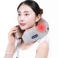Col à col électrique Massager U en forme d'oreiller multifonctionnel à l'épaule portable Cervical Cervical Massager Voyage Accueil Variez Coussin de massage