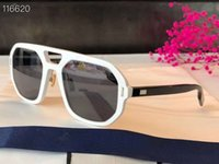 Schwarze Ruthenium Sonnenbrille Al Graue Linsen Brillen Männer Mode Sonnenbrille Sonnenbrille Frames UV400 Protecton mit Box