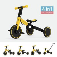 Uonibaby 4 Into 1 Baby Bike Kids Stroller Trolley Pedal Tricycle Two Wheel Children Bicycle Bikes