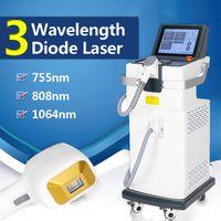 2021 LASER 808NM Remoción para el cabello Anti Renrowth Diodo Lazer Beauty Equipment 3 longitudes de onda