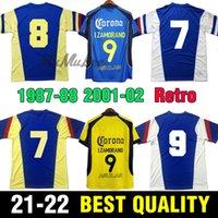Retro club America Soccer Jerseys Liga MX 1987 1988 2001 2002 Camicie da calcio Messico R.Sambueza P.AGUILAR O.Peralta C.dominguez Matheus