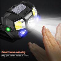 Headlamps 1300mAh ultra led led headlamp de movimento hard hard hard lâmpada poderoso farol usb recarregável impermeável