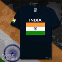 الهند تي شيرت مان تيز تي شيرت أمة فريق القطن أزياء اجتماع المشجعين الشارع الشهير اللياقة الجمنازيوم قمم البلد ind الهندي العلم X0621