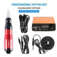 Professionelle Tattoo Rotary Pen Mini Tattoo Kit Maschinenpedal Set Tattoos liefert Zubehör Heißer Verkauf-B7