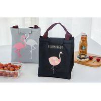 Aufbewahrungstaschen Flamingo gedruckt Lunchtasche Wärme Wasserdichte Strand Lebensmittel Picknick Warme Kühle Frischheizung Outdoor-Aktivitäten Zubehör