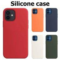 Cas de silicone pour iPhone 12 11 6 7 8 plus X XS max liquide avec paquet de détail