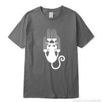 Xinyi رجل t-shirt أعلى جودة القطن مضحك القط الإبداعي طباعة قصيرة الأكمام الرجال تي شيرت عارضة الانقاع الكبير نظرية رجل tshirtsoccer جيرسي