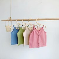 Vest Children Cotton Strappy Top With Girls And Boys Sleeveless Camisole Korean Solid Color