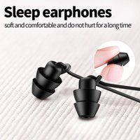 Type-c sleeping earphones wired in-ear earplugs with mic headphone Soft silicone high-quality Headset Universal earpiece for mobile, computer, notebook