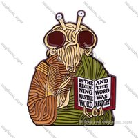 SP040 Hannibal Mask Cartoon Enamel Pin Brooches Creative Horror Metal Brooch Pins Denim Hat Badge Collar Jewelry Halloween Gifts commute