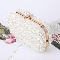 Kupplungsbeutel Frauen Weiße Perle Hochzeitsfeier Geldbörse und Handtasche Abendtasche Luxus Design Kette Schulter ZD1833