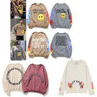 Kanye West Graffiti Impreso con capucha con capucha de algodón suéter suéter jersey hombres sueltos mujeres servicio santo espíritu cpfm otoño